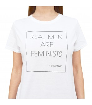 REAL MEN ARE FEMINISTS - WOMAN - CREW NECK