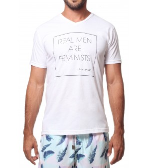 REAL MEN ARE FEMINISTS - MAN - V NECK