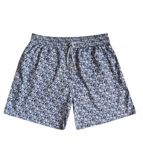 swim short for men blue flowers