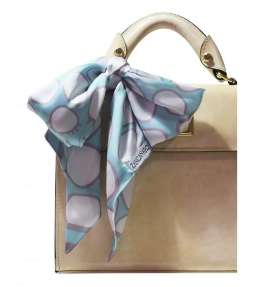 purse silk scarf mint blue neck