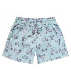 Zancanaro men beach vespa print polyester fir swimshort