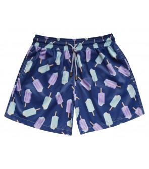 zancanaro men's beachwear unique print popsicle polyester