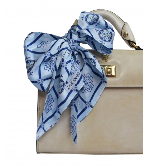 blue mosaic italy inspiration purse neck wrist scarf