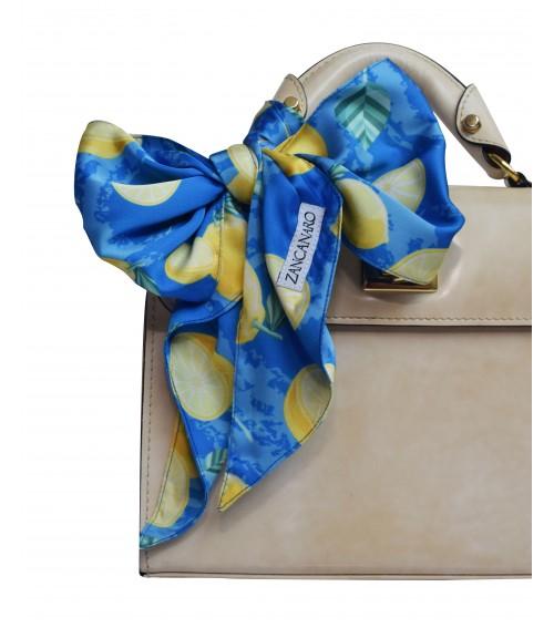 lemons wrist purse and neck scarf