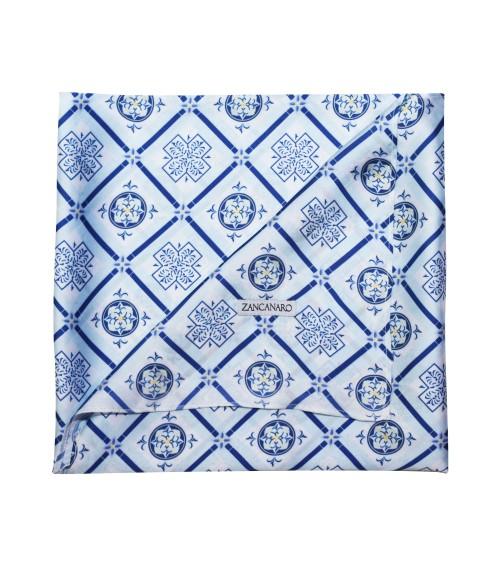 MULTIUSE SCARF italian mosaic blue designer