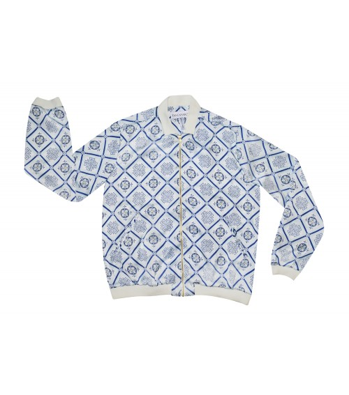 beach sport jacket blue italian mosaic prinf for womens
