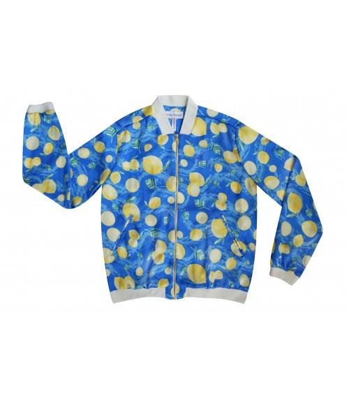 beach sport jacket lemons print for womens