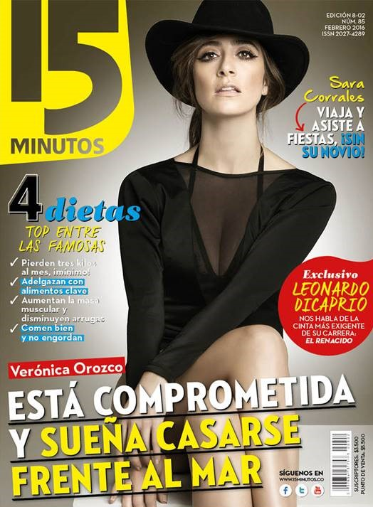 Zancanaro bathing suit featured on the cover of 15 minutos magazine